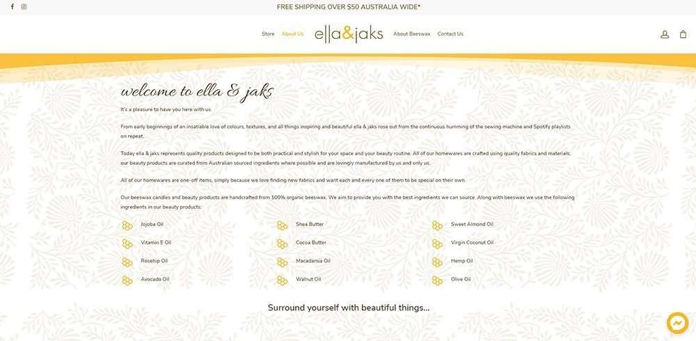 about   ella & jaks   Cultivate Web Design