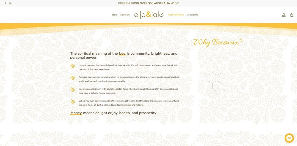 beeswax   ella & jaks   Cultivate Web Design