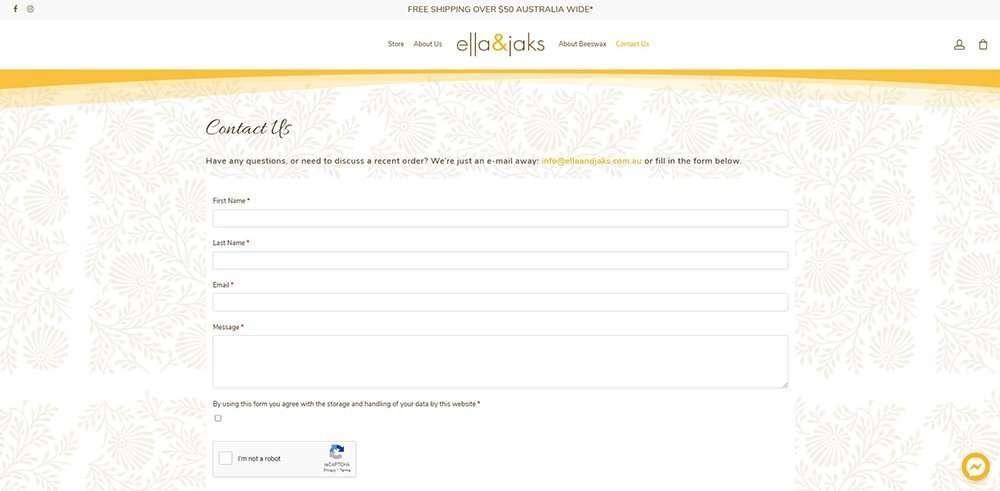 contact   ella & jaks   Cultivate Web Design