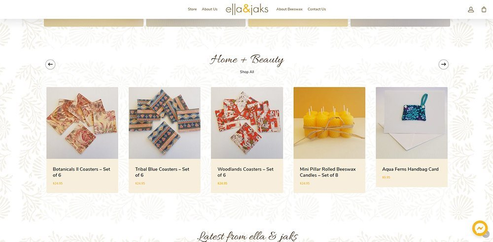 featured products   ella & jaks   Cultivate Web Design