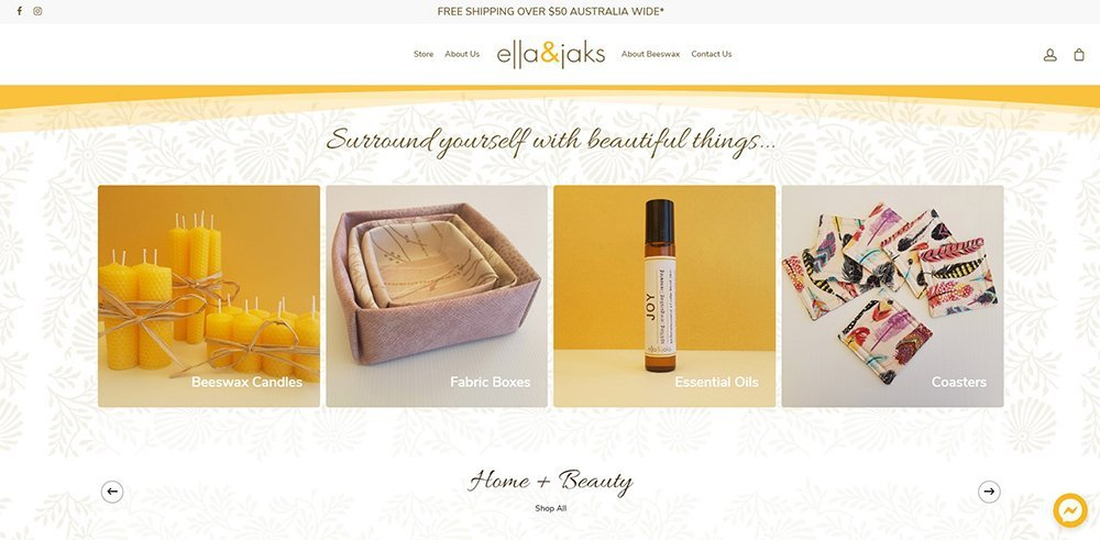 home   ella & jaks   Cultivate Web Design