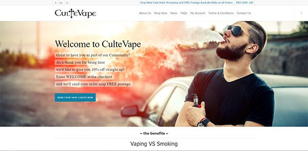 Cultivate Web Design | Harvest Your Online Potential | Portfolio CulteVape