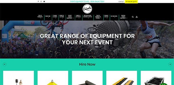Event Equipment Hire | The Events Agency Hire | Cultivate Web Design | Harvest Your Online Potential