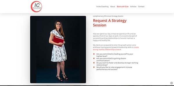 Incite Coaching Work with Evie | Cultivate Web Design | Harvest Your Online Potential