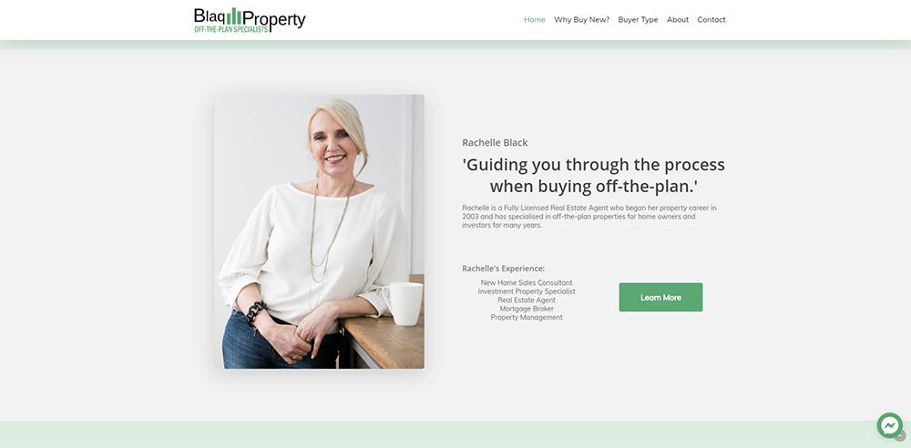 Blaq Property Rachelle Black | Cultivate Web Design | Harvesting Your Online Potential