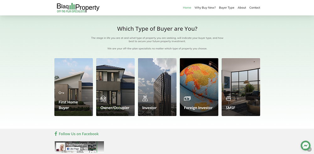 Blaq Property What Type of Buyer | Cultivate Web Design | Harvesting Your Online Potential