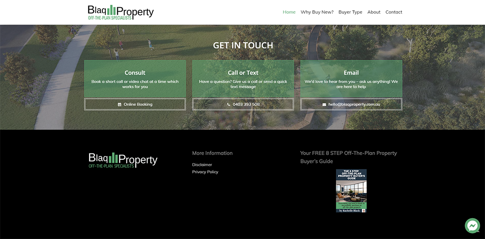 Blaq Property Contact Us | Cultivate Web Design | Harvesting Your Online Potential