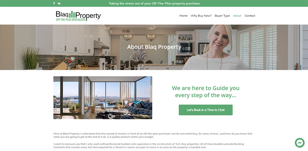 Blaq Property About | Cultivate Web Design | Harvesting Your Online Potential