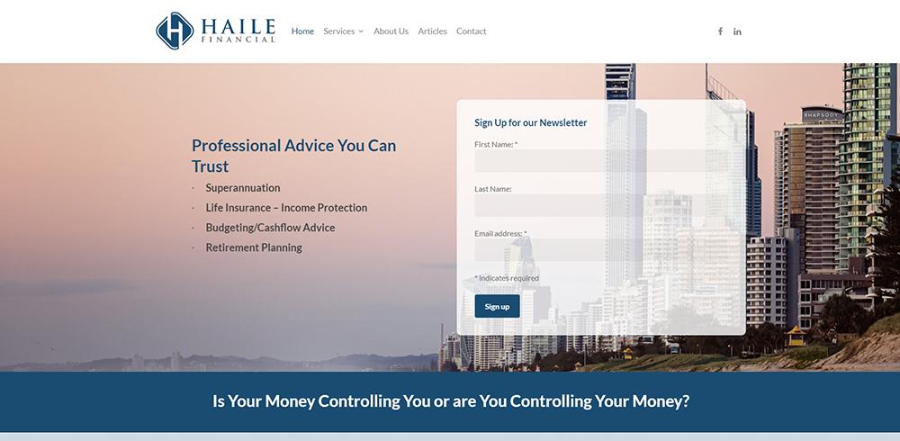 Haile Financial | Cultivate Web Design | Harvest Your Online Potential