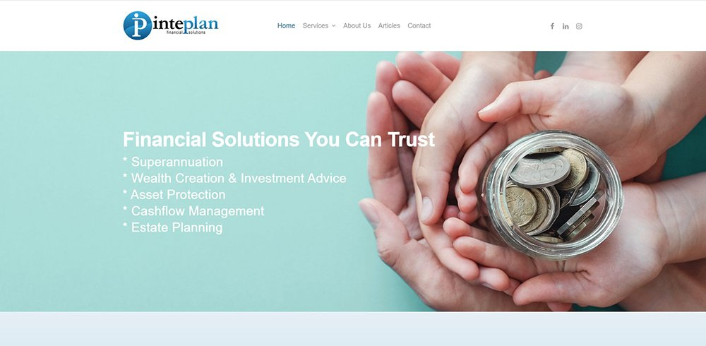 Inteplan Financial Solutions | Cultivate Web Design | Harvesting Your Online Potential
