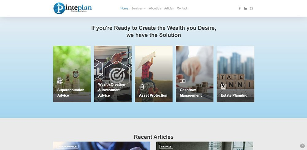 Inteplan Financial Solutions Services | Cultivate Web Design | Harvesting Your Online Potential