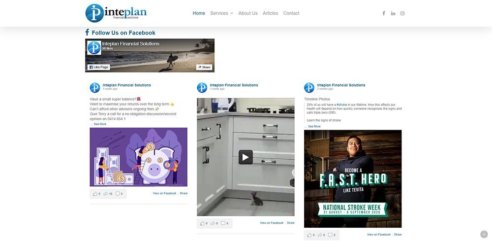 Inteplan Financial Solutions Social Media | Cultivate Web Design | Harvesting Your Online Potential
