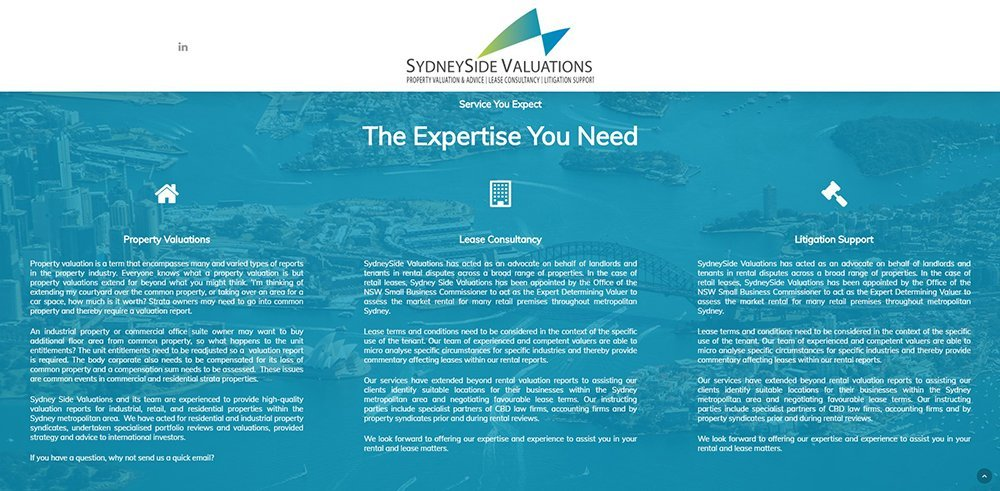 SydneySide Valuations Expertise | Cultivate Web Design | Harvesting Your Online Potential
