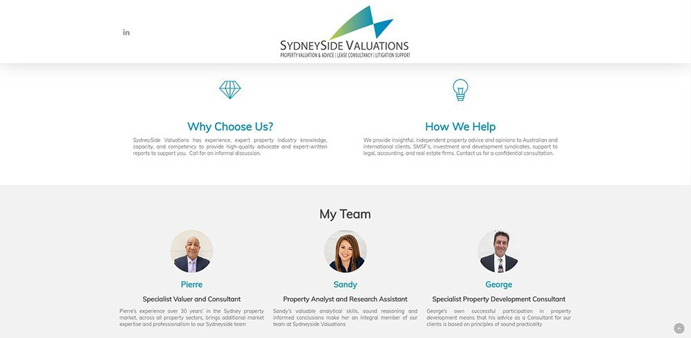 SydneySide Valuations Team | Cultivate Web Design | Harvesting Your Online Potential