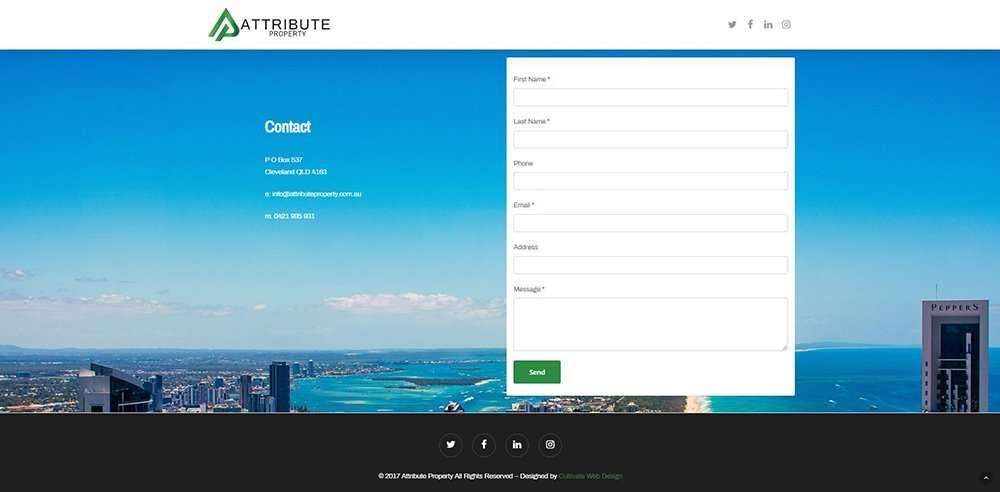 Attribute Property Contact | Cultivate Web Design