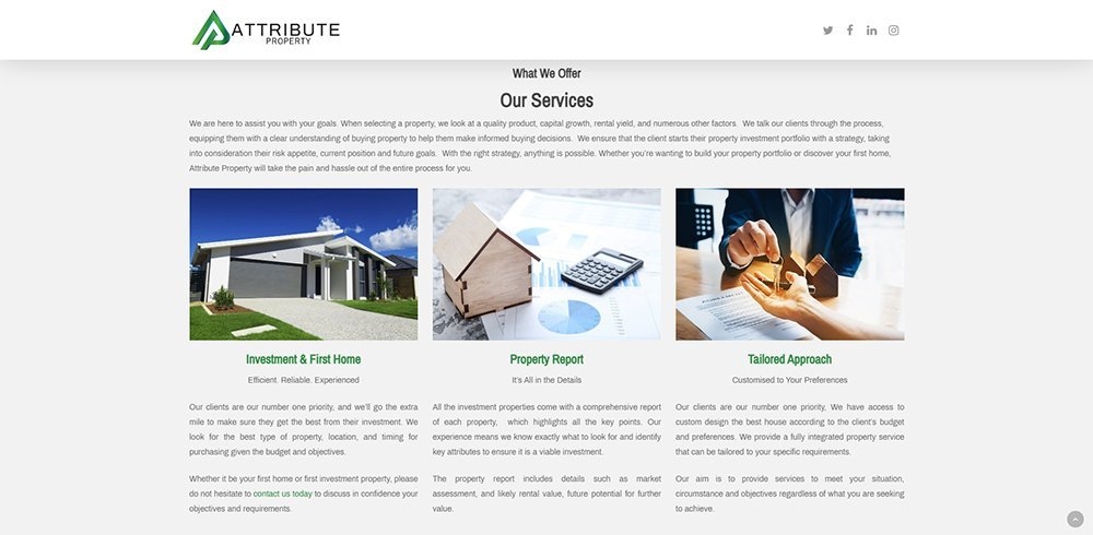 Attribute Property Services | Cultivate Web Design