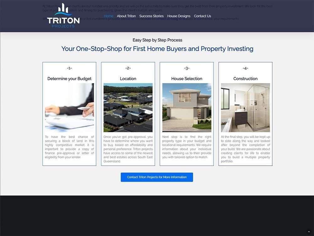 Triton Projects One Stop Shop   Cultivate Web Design   Portfolio